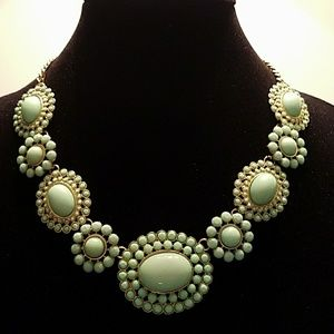 Mint Green Statement Runway Necklace